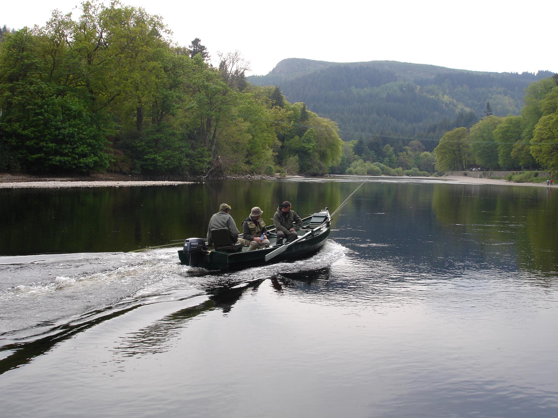 Fishing on the river at Dunkeld